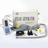 TR-019 110 v/220 v 3kw sistema gerador de vapor casa chuveiro do banheiro vapor sauna spa vapor máquina com controle remoto