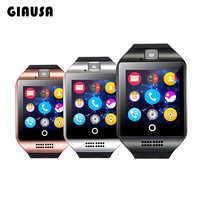 Reloj inteligente Q18 con Bluetooth para hombre, pulsera con cámara, Facebook, Whatsapp, sincronización de Twitter, SMS, compatible con tarjeta SIM TF para IOS y Andr, nuevo