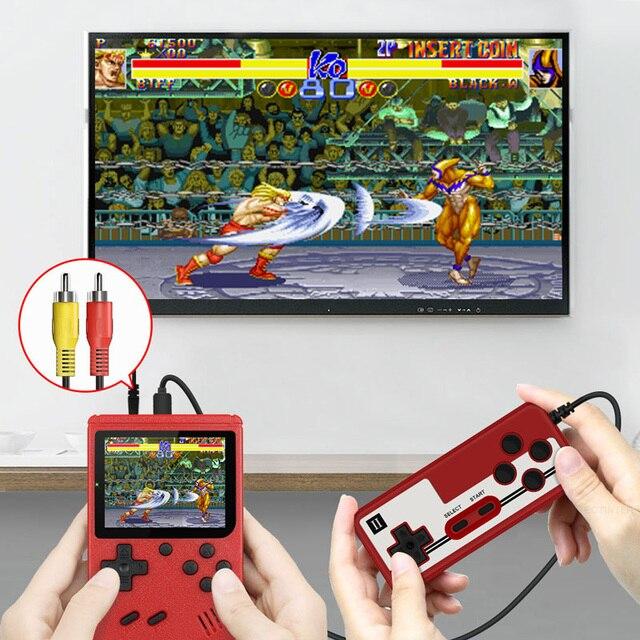 ريترو محمول صغير محمول لعبة فيديو وحدة التحكم 8 بت 3.0 بوصة لون LCD أطفال لون لعبة لاعب المدمج في 400 ألعاب 2