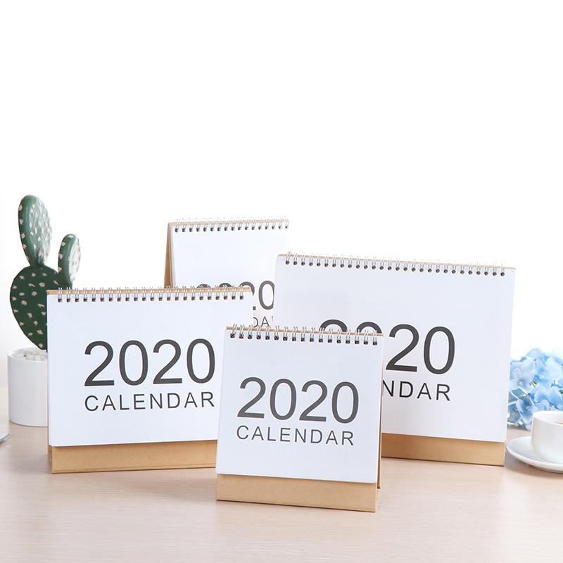 Delicate 2020 Desktop Wall Calendar 2019 Monthly Plan Daily Schedule Planner  Kawaii School Supplies