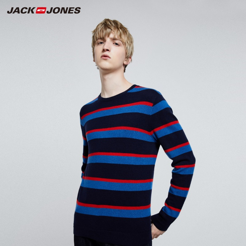 JackJones Men's Striped Sweater Pullover Top Basic Menswear 219324523