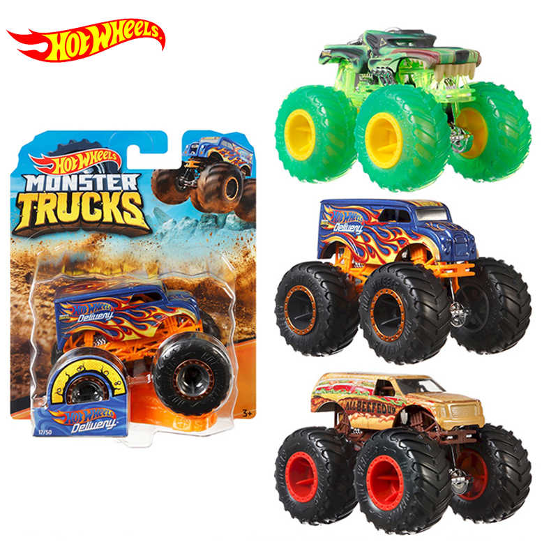 Hot Wheels Tracks 1 64 Monster Diecast Car Toys Collection Model Trucks Assortment Metal Cars Boys Toys For Children Kids Gifts Diecasts Toy Vehicles Aliexpress