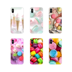 Customized Cases For Huawei G7 G8 P8 P9 P10 P20 P30 Lite Mini Pro P Smart Plus 2017 2018 2019 dessert ice cream laduree Macarons