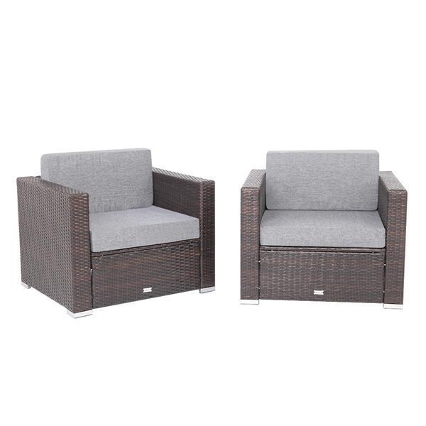 2 Pieces Patio Sofa 3