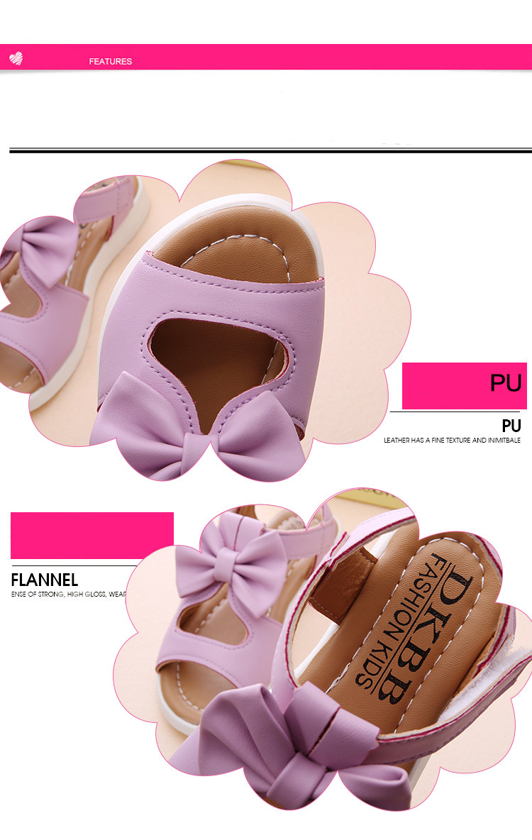 Kids Girl Shoes Sandals Summer Children Sandals Fashion Bowknot