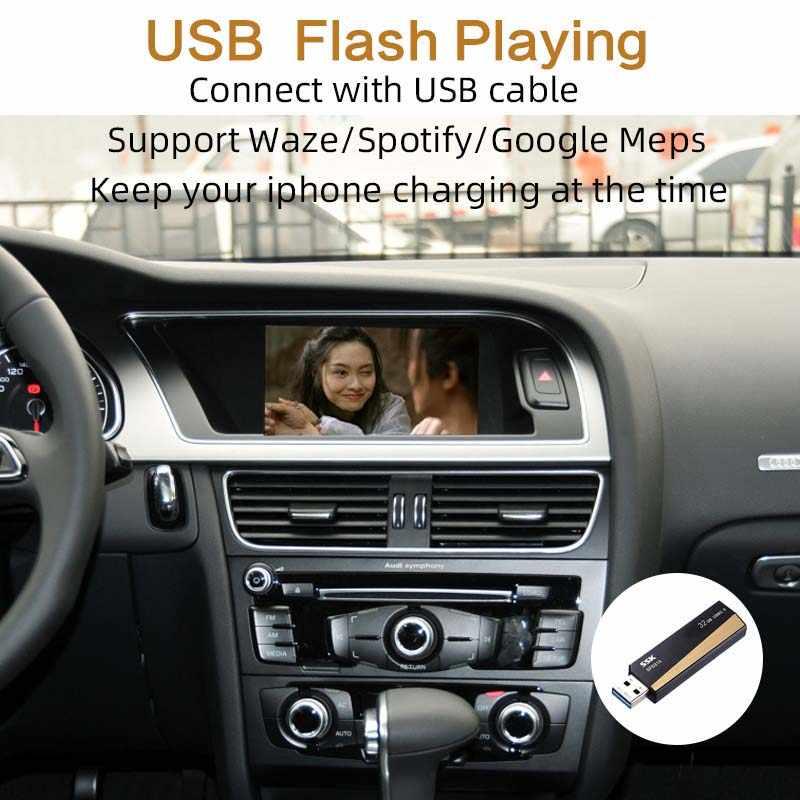 Sinairyu Wifi bezprzewodowy Apple CarPlay samochód grać Android lusterko samochodowe dla Audi 2009-2019 A4 A5 Q5 Non MMI OEM modernizacja ekran dotykowy