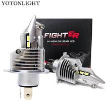 Super lutador h4 led 4300k lâmpadas h4 led farol 6000k 70w 15000lm hb2 9003 luzes lâmpada para carro auto motocicleta 12v