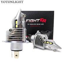 YOTONLIGHT 슈퍼 H4 전조등 70W 15000lm H4 Led 전구 램프 4300K 6000K HB2 9003 조명 자동차 오토바이 12v