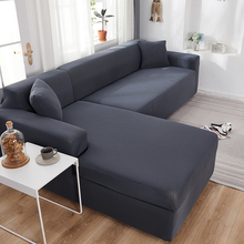 Plain Corner Sofa Covers for Living Room Elastic Spandex Couch Cover Stretch Slipcovers L Shape Sofa Need Buy 2pcs Sofa Cover