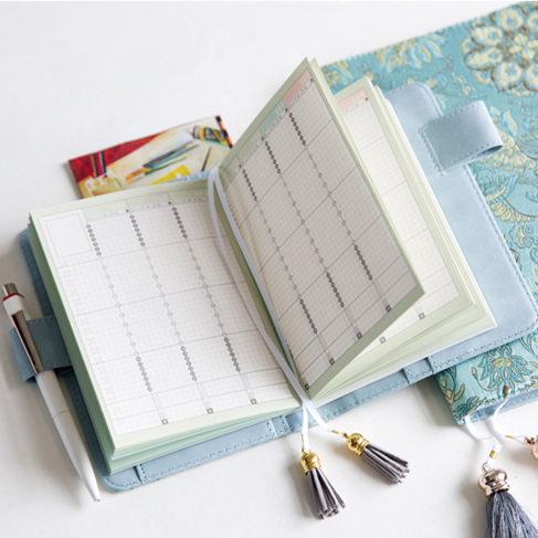 Undated Daily Weekly Monthly Refill Agenda For Hobonichi Grid/Lined/Blank/Planner Notebook Bullet Journal 100GSM Paper A5 A6