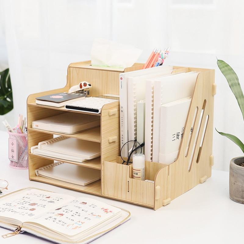 Multifunctional Desktop Office Organizer Storage Box Pen Pencil Box Jewelry Makeup Holder Stationery Office Storage Organizer
