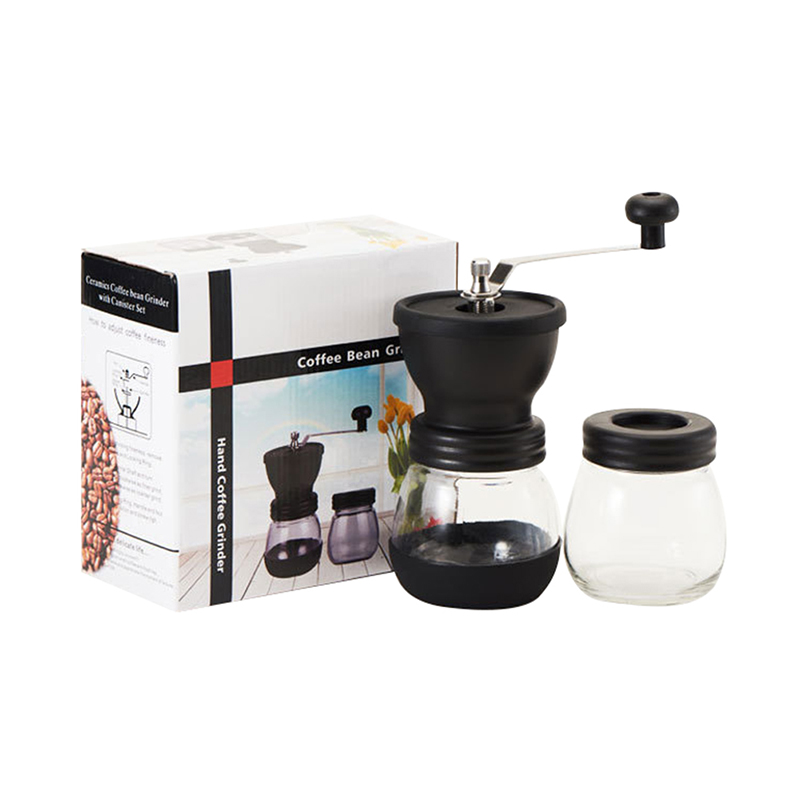 Manual Coffee Grinder Adjustable Coarseness Hand Coffee Bean Mill With Ceramic Burrs Corn Coffee Grinding Machine Coffee Pot