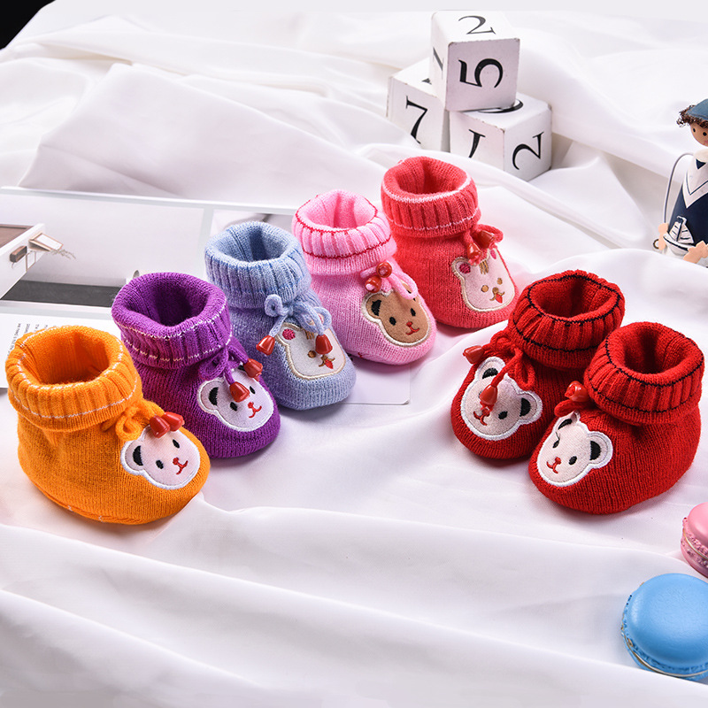 Winter Cute Rabbit Anima Style Baby Boots Fleece Worm Cotton-padded Shoes Baby Booties Wholesale 0-18 Month Infant Toddler Shoes
