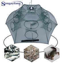 Sougayilang 4 20 отверстий рыболовная сеть в сложенном виде