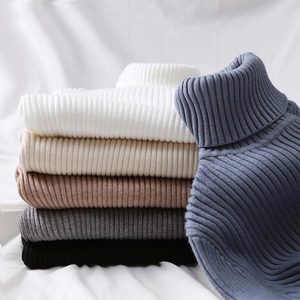 Fall Winter Knitted Turtleneck Women Sweater Basic Long Sleeve Top Women Pullover Bottoming Shirts Sweaters For Women Fashion