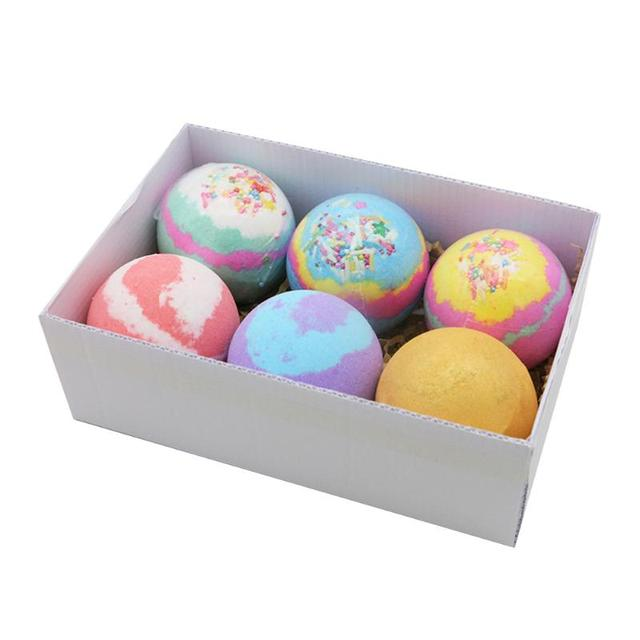 6pcs/set Soap Handmade Bath Bomb Ball Essential Oil Exfoliating Body Shower Bubble Salt Balls Skin Care Cleaning 5