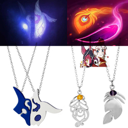 League Legends LOL Kindred Eternal Hunters XAYAH and RAKAN Couples Necklaces Women men Accessories Lover Gift