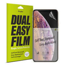 Ringke Screen Protector Dual Easy Film for iPhone 11 Pro Max High Resolution Easy Application Film for iPhone XS Max [2 Pack](China)