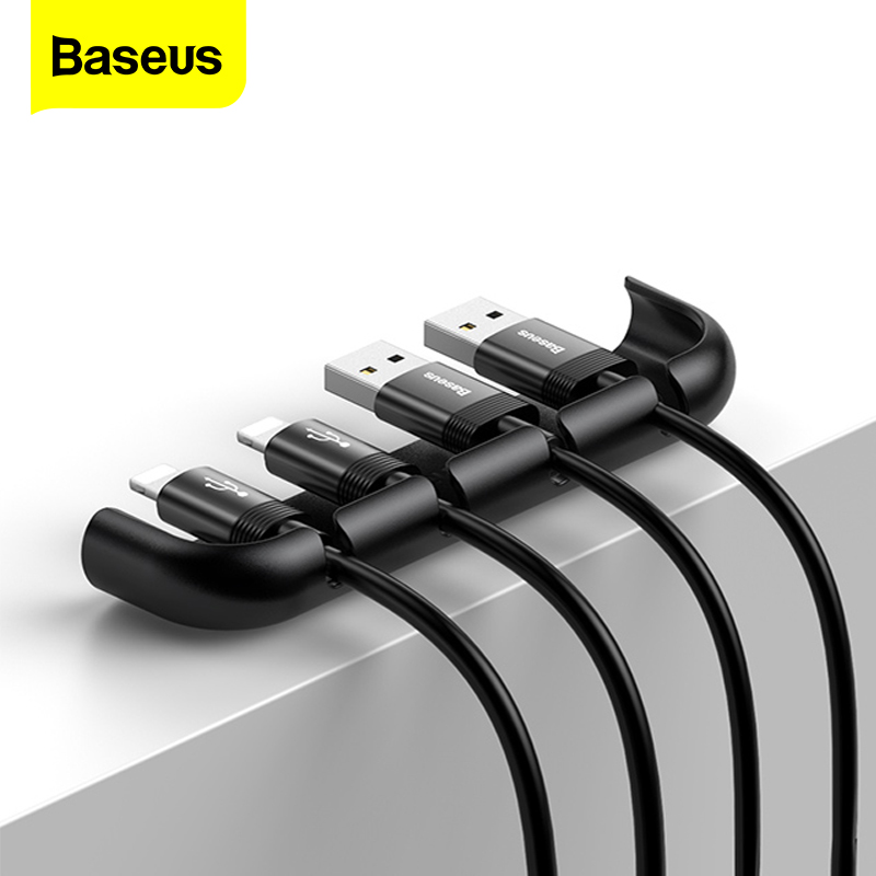 Baseus USB Cable Organizer Management Winder Protector Wire Cord Holder Tempered Film Installation Tool For IPhone XS Max XR X