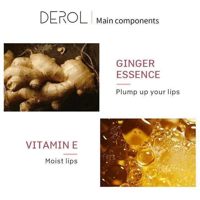 5ml Instant Volumising Lips Plumper Repairing Reduce Lip Fine Lines Mask Long Lasting Moisturizer Care Lip Oil Sexy Plump Serum 5