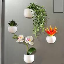 Aimant de réfrigérateur, Simulation de plante, bonsaï, plante succulente, bouton magnétique, plante en pot, autocollant de réfrigérateur, décoration de la maison