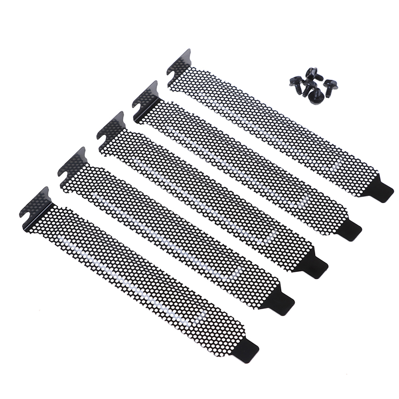 5Pcs PCI Slot Cover / PCI Slot Cover Dust Filter Blanking Board With Screws