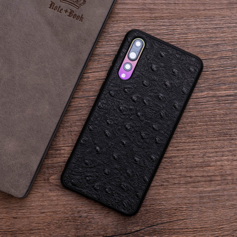 Pelle di struzzo Cassa Del Telefono Per Huawei Compagno di 20 10 9 Pro P10 P20 Lite Molle di TPU Copertura del Bordo Per Honor 8X Max 9 10 Nova 3 3i Capa - 6