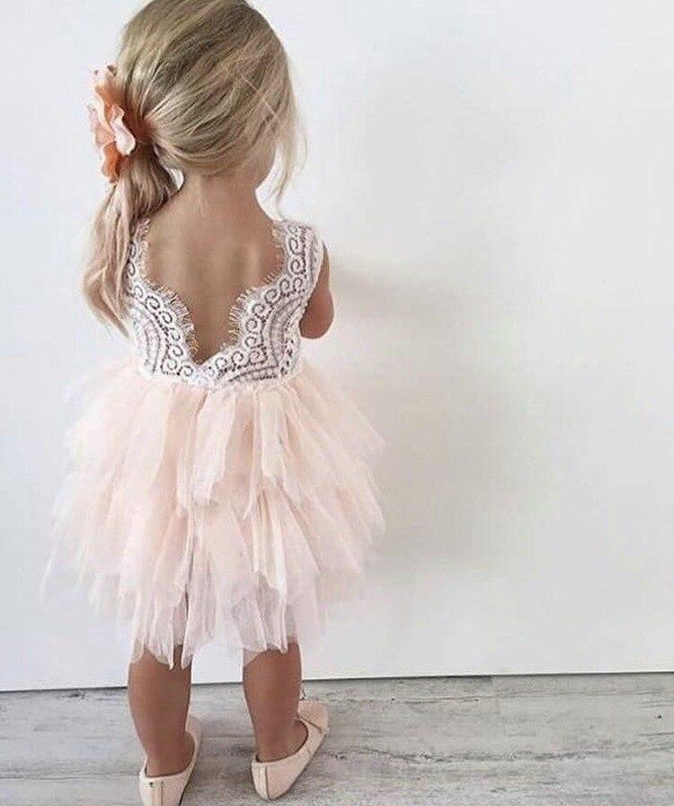 Summer Girl Dress White Scallop Girls Little Girls Princess Dress Tutu Fluffy 2 3 4 5 6 Years Children Casual Wear Kids Clothes 2