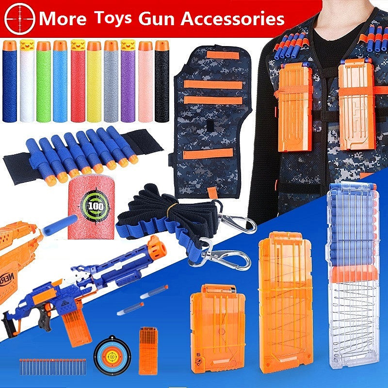 Nerfed Accessoires/Nerfed Magazine 18 22 10 6 Bullet Clip/Gun Bullet Toy/nerfs Bag/Shoulder Strap N-strike Elite Gun Accessoire