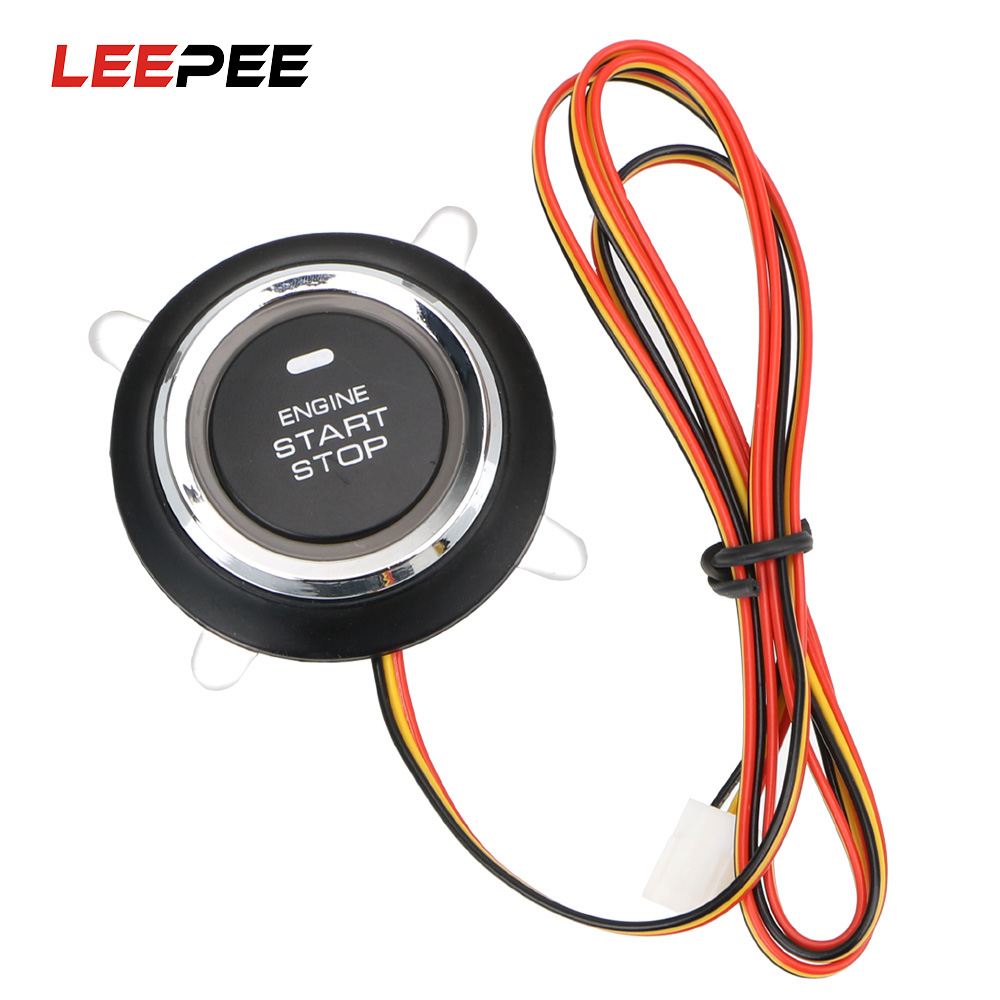 LEEPEE 12V Auto Replacement Car Engine Start Stop Push Button Keyless Entry Ignition Starter Switch