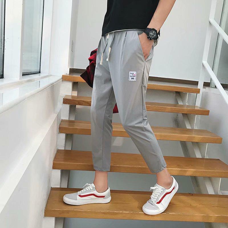 Spandex Casual Men Versatile Pants Hot Selling Men's Pencil Capri Pants Korean-style Popular Brand Slim Fit Skinny Pants Men's S