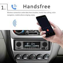 Vintage Car Wireless Radio MP3 Player Stereo USB/AUX Classic Stereo Audio FM Modulator Car Accessories(China)