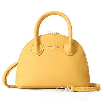 цена на Brand Luxury Half Round Handbag Women Fashion Messenger Crossbody Bags Female Shoulder Bag Leather Ladies Purse Tote Shell Bolsa