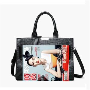 Image 5 - Sacs à main de marque Alligator en cuir pour femmes, sacs de luxe décontracté, sacoche à épaule, fourre tout Fashion pour dames