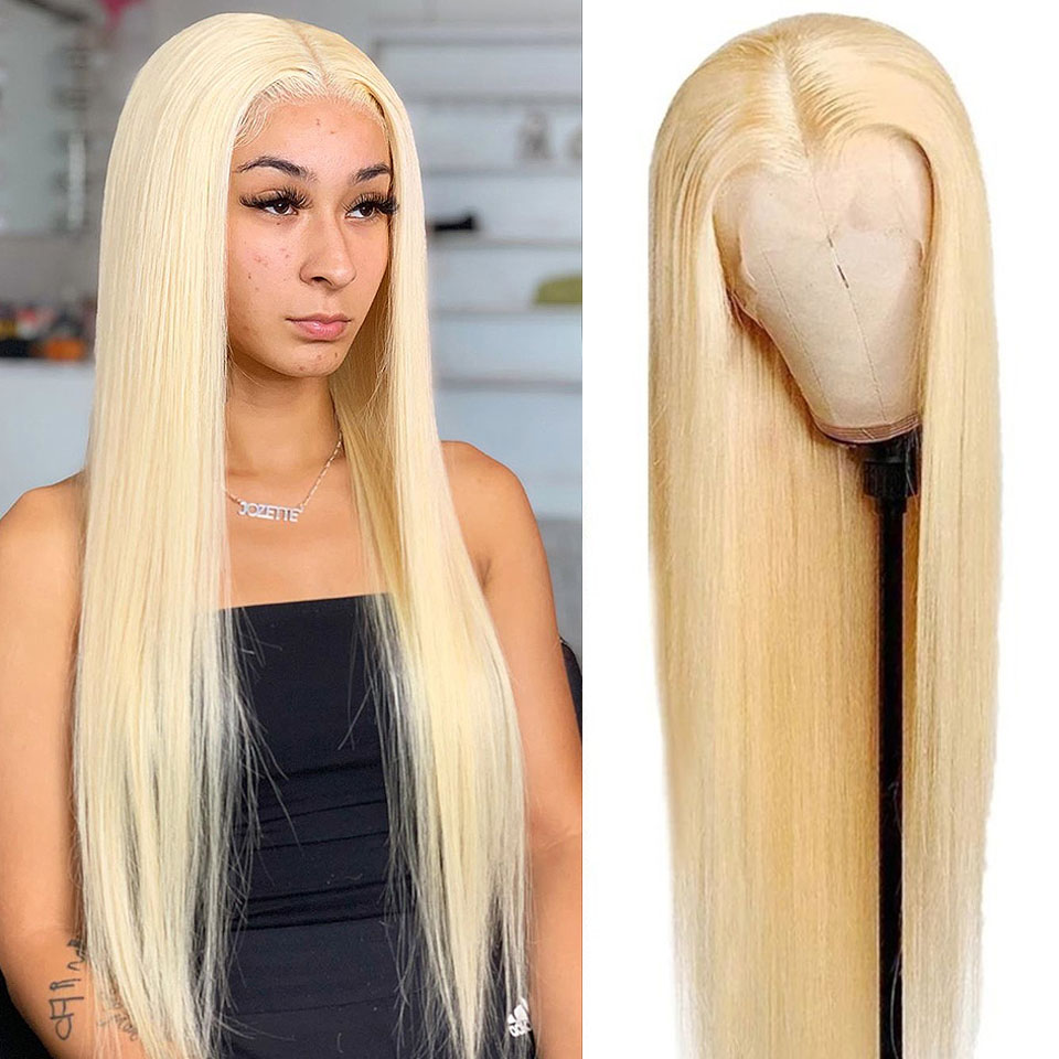 28 30 дюймов Мёд блондинка 613 Синтетические волосы на кружеве парики 13x4 Прозрачный HD парик шнурка Синтетические волосы на кружеве al парик прям...
