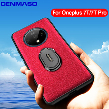 Shockproof Capa for Oneplus 8 Pro 7T Back Case for Oneplus 8 7T One Plus 7T Pro Magnetic Car Holder Ring Cloth Texture Full Case yuyaobaby white 7t