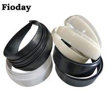Novo 10 pçs/lote 2.5/2.8/3.8/4 cm de largura plástico plana bandana para meninas feminino preto branco hairbands almofada para diy bezel aros material