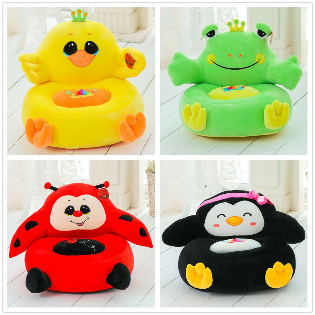 Stuffed Animal Plush Toy Cartoon Bean Sofa Chair/Child Seat/Kids Baby Sofa Gifts Toys For Children