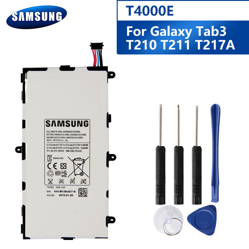 Samsung Original <font><b>T4000E</b></font> Battery For Samsung GALAXY Tab3 7.0 T210 T211 T2105 T217a Genuine T4000C T4000U Tablet Battery 4000mAh image