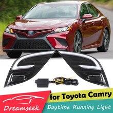 DRL Tag Licht für Toyota Camry XV70 SE XSE 2018 2019 2020 LED Tagfahrlicht Fluoreszierende Design mit Drehen signal