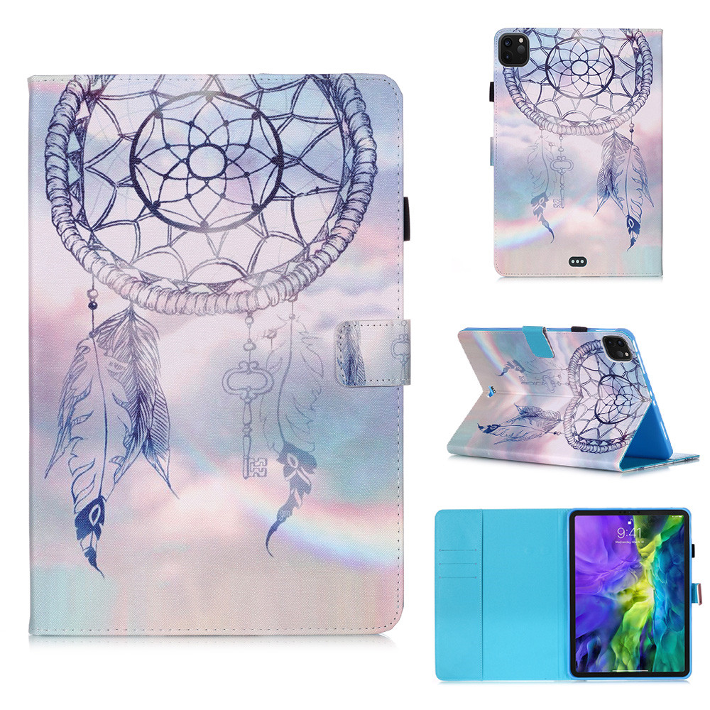 3 Green Owl Flowers Tablet Cover For iPad Pro 11 Case 2020 Coque Wallet Stand Tablet Funda For