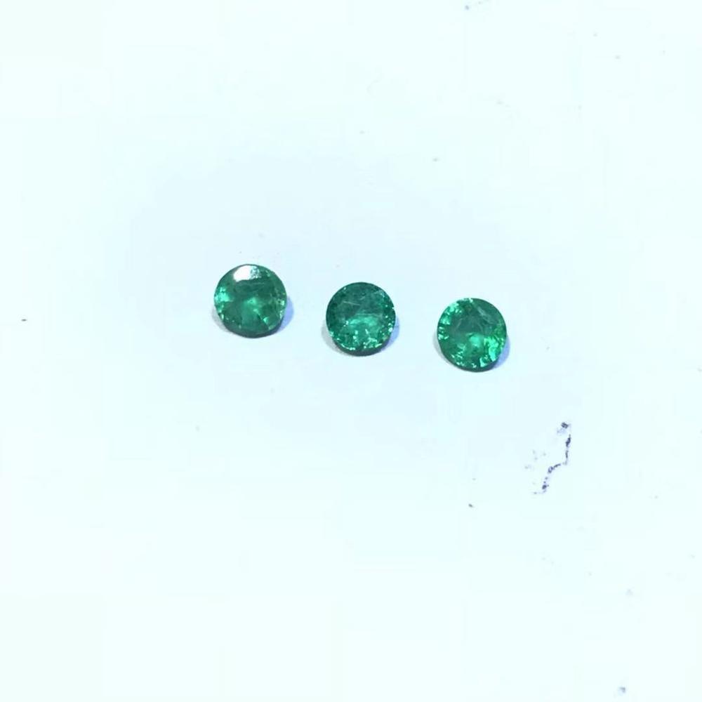 3mm*3mm emerald loose gemstone 100% real light green emerald gemstone from Zambia