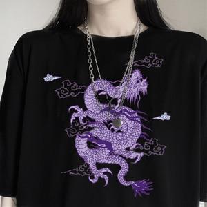 Woman cotton tshirts harajuku Dragon kpop ropa mujer y2k tops aesthetic vintage femme t-shirts korean style oversized t shirt