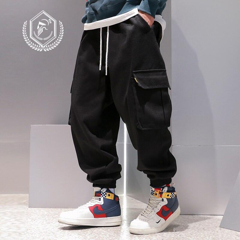 Men Loose Patchwork Safari Style Pants Harem Jogger Pants Fashion Ankle-Length Hip Hop Pants