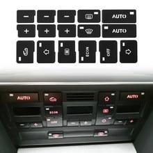 Adesivos de reparo para controle de ar condicionado, botão de controle de clima ac, audi a4 b6 b7 2000 2001 2002 2003 2004