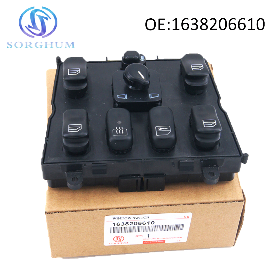 New 1638206610 A1638206610 Power Window Master Switch for 1998-2005 Mercedes-Benz ML320 <font><b>W163</b></font> ML400 ML430 ML500 A 163 820 6610 image