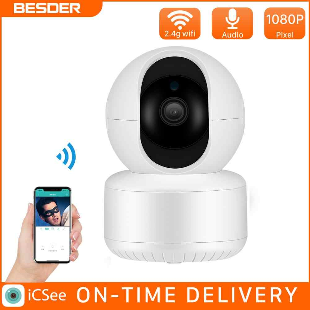 Besder 1080P Wifi Camera Draadloze Smart Dome Ip Cam Home Security Surveillance Camera Icsee Nachtzicht Webcam Camcorder