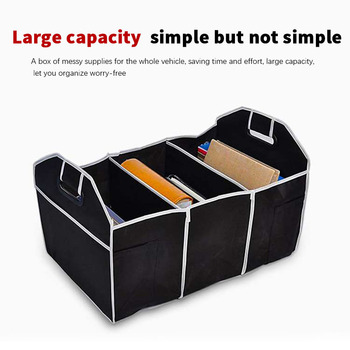 Car Accessories Car Multi-Pocket Trunk Organizer Large Capacity Folding Storage Bag Trunk Stowing and Tidying Trunk Organizer