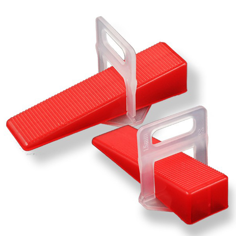 2Mm Level Floor Cross Spacers Tiles Tools Tile Leveling System 200Pcs 2.0Mm Clips + 100Pcs Wedges For Tiling Tools