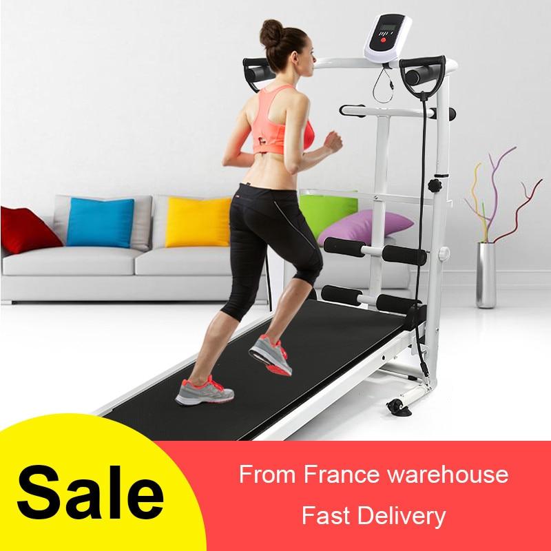 Permalink to Mechanical Treadmill Folding Home Gym Running Machine Training Fitness Treadmile Pull Rope Multi-function Fitness Equipment HWC